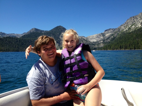 Davis and his little sister, Margaret, at Lake Tahoe (or as Davis calls it, Lake Taco).