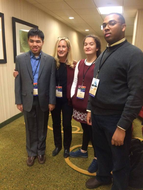 Huan, Elizabeth, Emma and Ben ready to take on their TASH Talks!